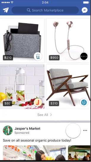Screenshot of a Facebook Marketplace video ad