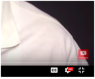 small YouTube subscribe button that appears in bottom right corner of video