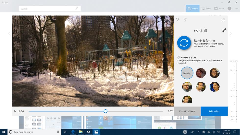 Video Remix in Windows 10