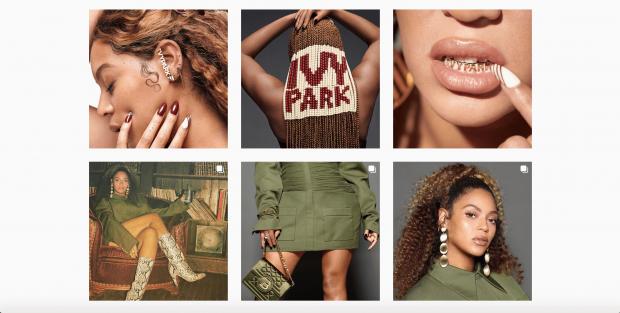 Beyonce's Instagram grid
