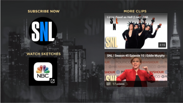 End cards for SNL YouTube video