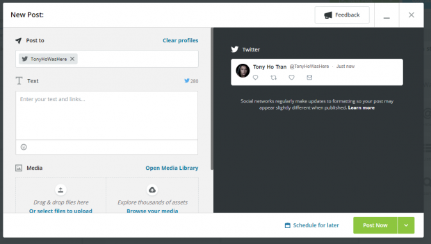 composing a Tweet in Hootsuite Compose