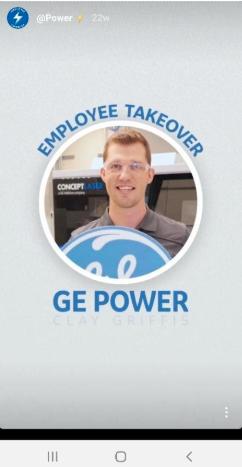 GE Instagram story