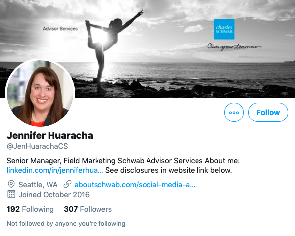 Jennifer Huaracha Twitter bio