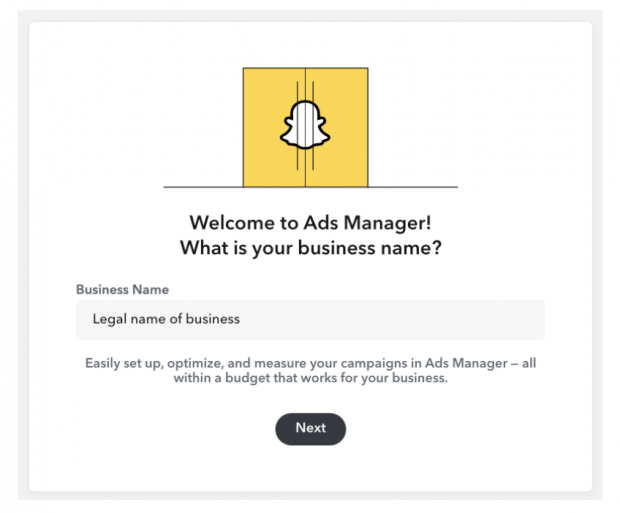 snapchat ads manager