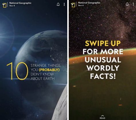 National Geographic Snapchat stories