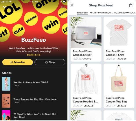 Buzzfeed snapchat shopping stories