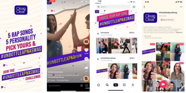TikTok ad for Clean & Clear