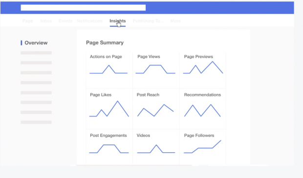 Facebook Insights overview page