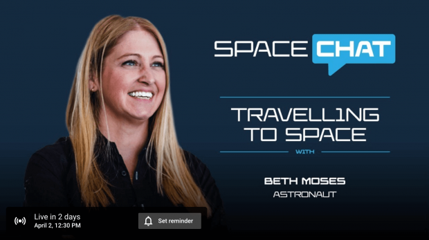 Space Chat Virgin Galactic YouTube live reminder for 2 days later