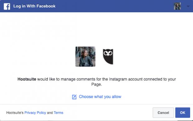 Confirm in Facebook