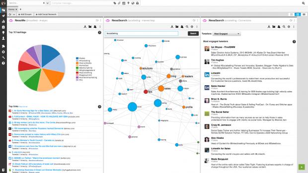 Nexalogy social media monitoring tool