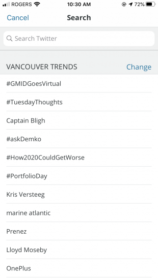 Vancouver trends on Twitter