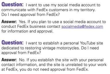 FedEx social media policy