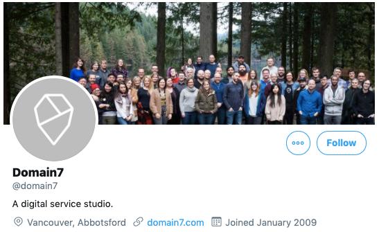 Domain 7 Twitter profile