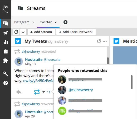 """""""My Tweets"""" stream in Hootsuite"""