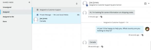 Message folder in Hootsuite