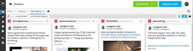 Screenshot showing how to search for multiple hashtags on Instagram