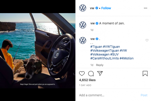 Screenshot showing how to hide Instagram hashtags in the comment section