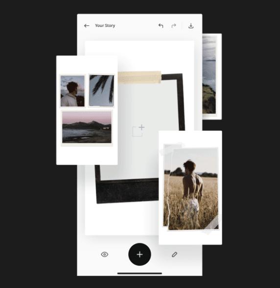 Instagram stories app Unfold