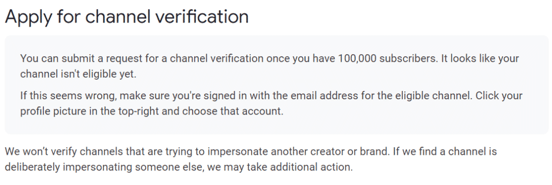 Youtube verification channel verification 2
