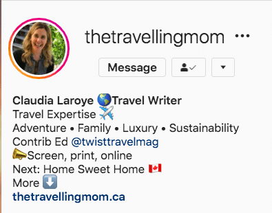 The Travelling Mom Instagram name keyword