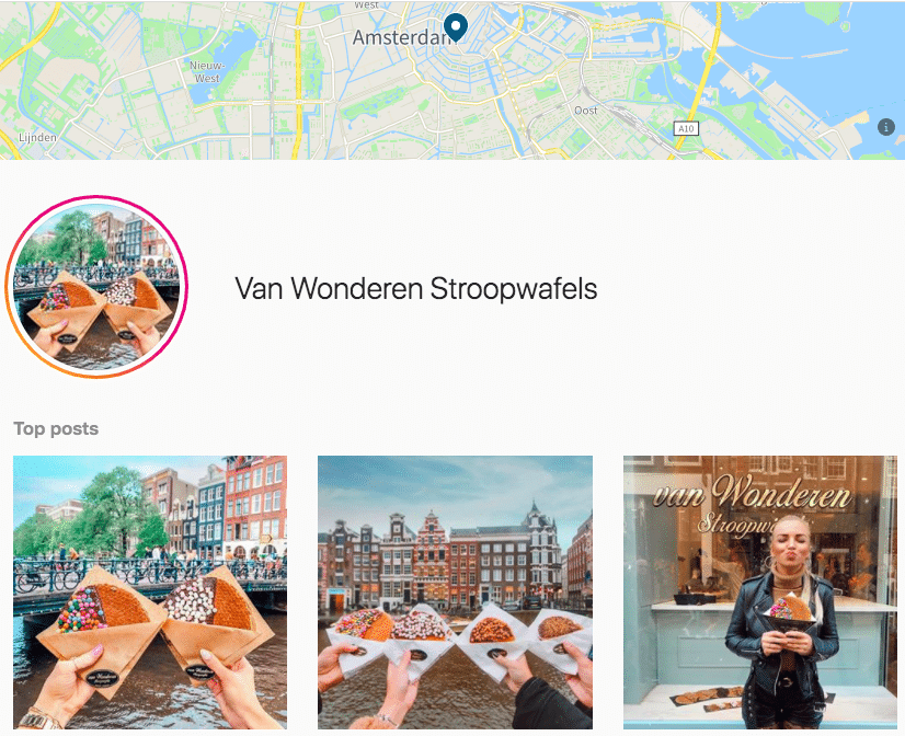 Instagram Amsterdam location tag