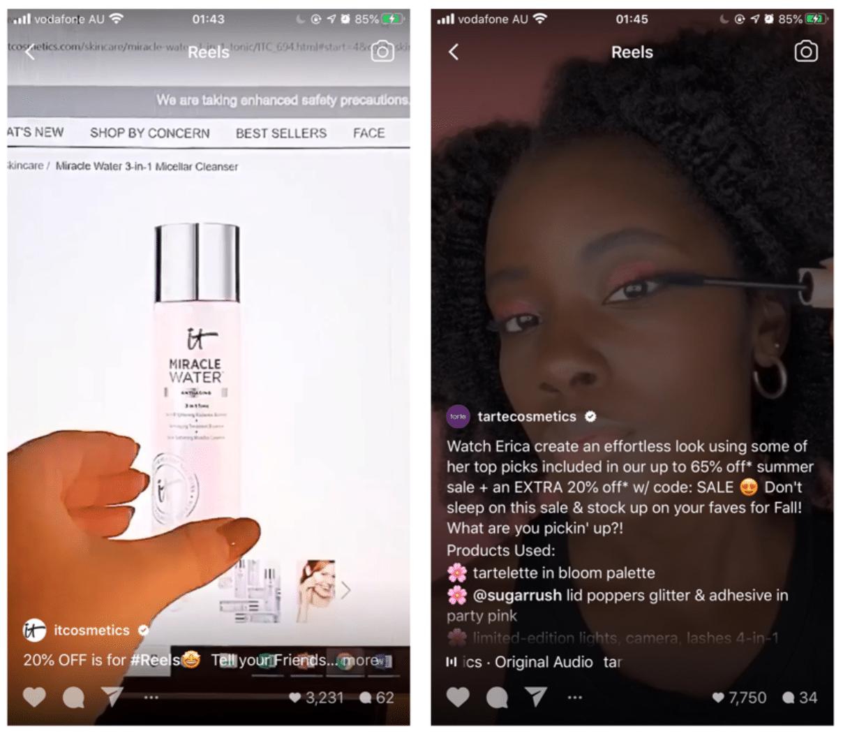 IT Cosmetics US and Tarte Cosmetics sales announcement