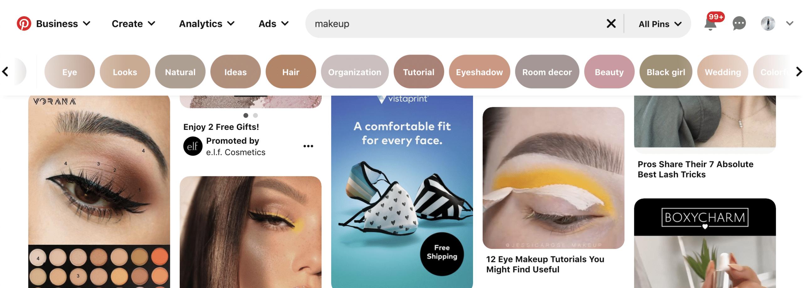 Optimize videos using Pinterest keywords