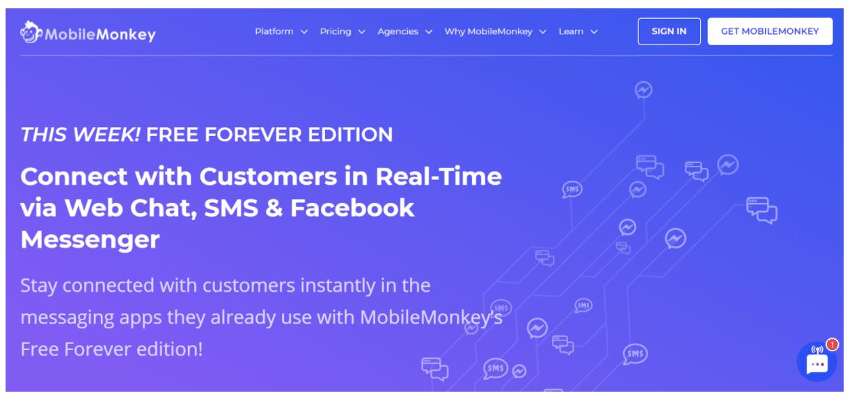 MobileMonkey Facebook Messenger chatbots