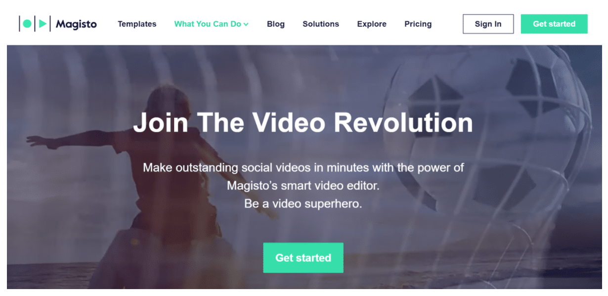 Magisto Facebook video ad creator