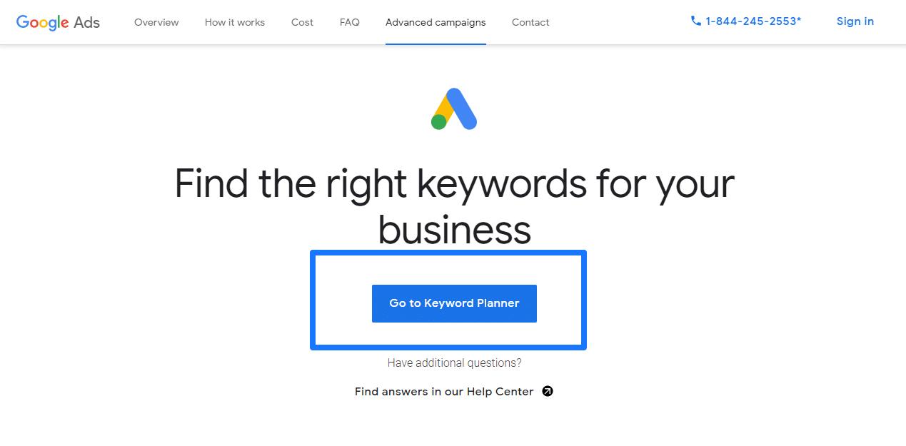 Go to Keyword Planner