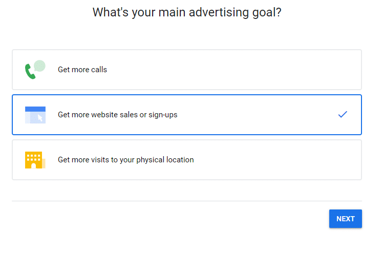 New Campaign advertising goal