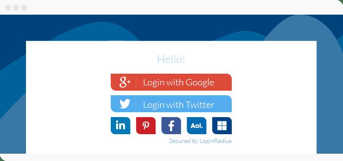 create social login option