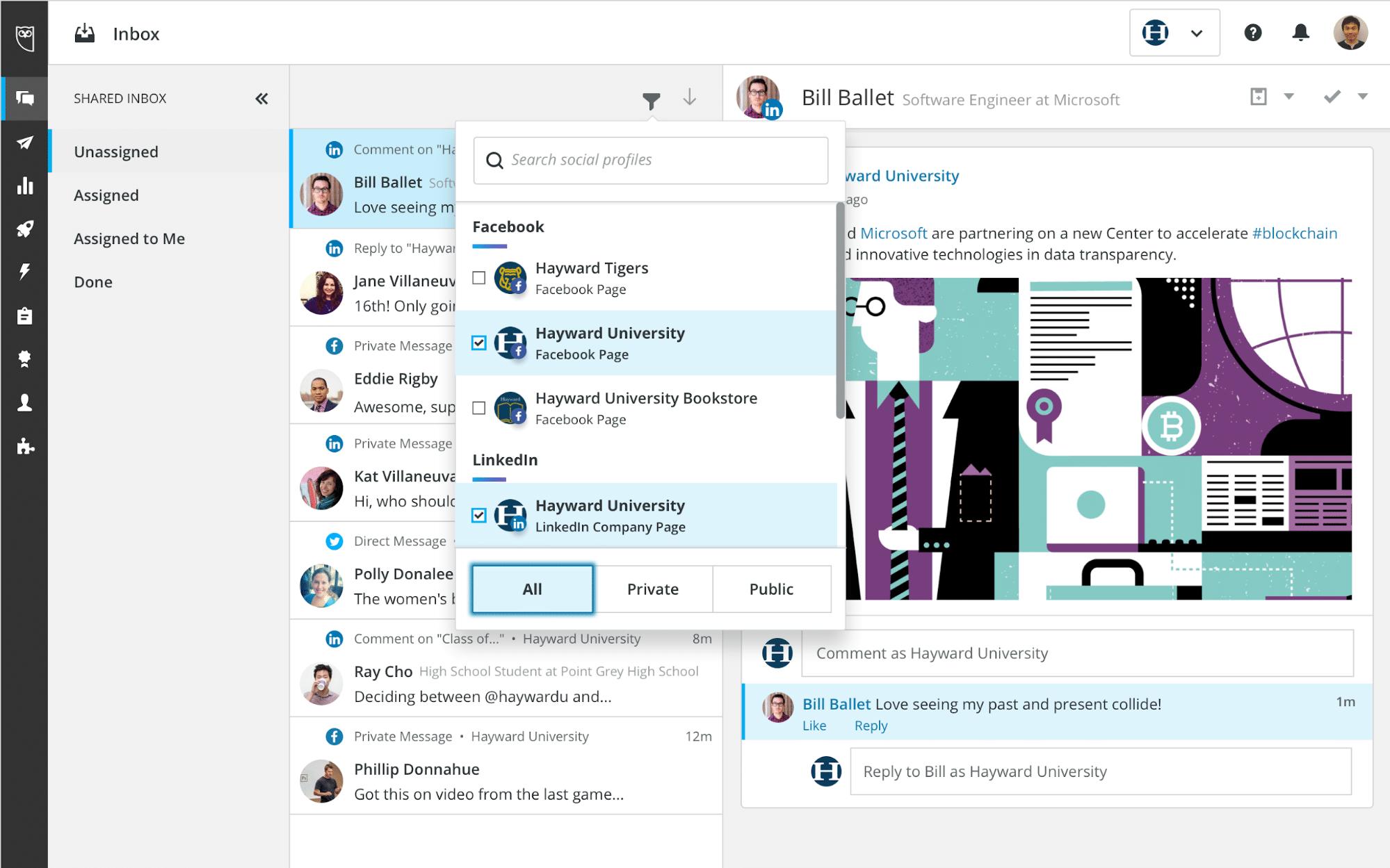 Hootsuite Inbox customer service inquiries