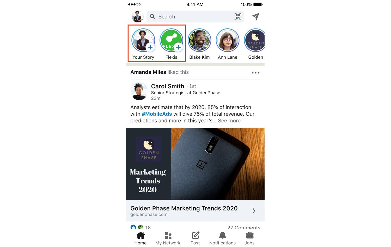 Click plus icon beside profile photo