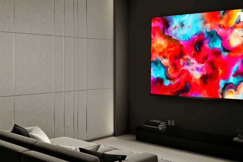 TCL 8-Series ROKU TV in a living room setup