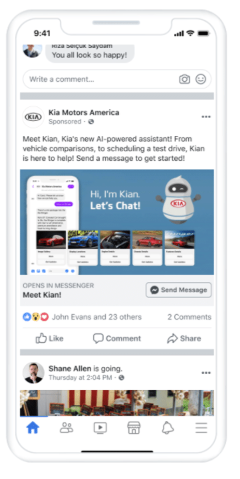 Kia Motors America virtual assistant chatbot