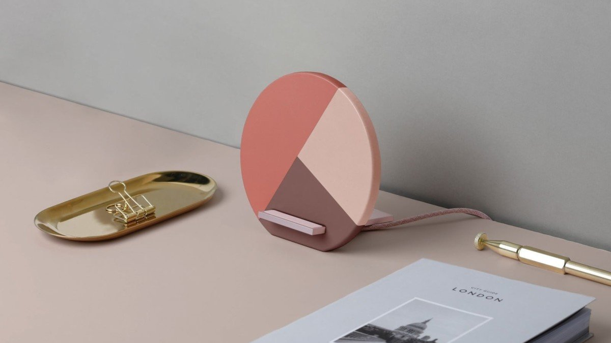 Native Union Dock Marquetry Wireless Charger Fast Charging iPhone Stand