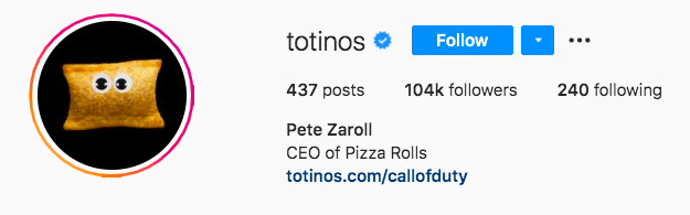 Totinos pizza roll character