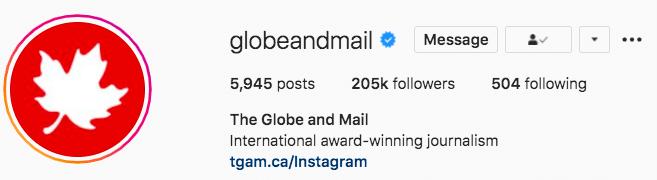 The Globe and Mai international award-winning journalism