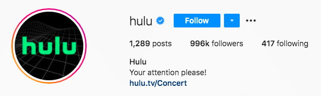 Hulu call to attention