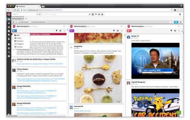 Pinterest analytics in the Mentionlytics dashboard