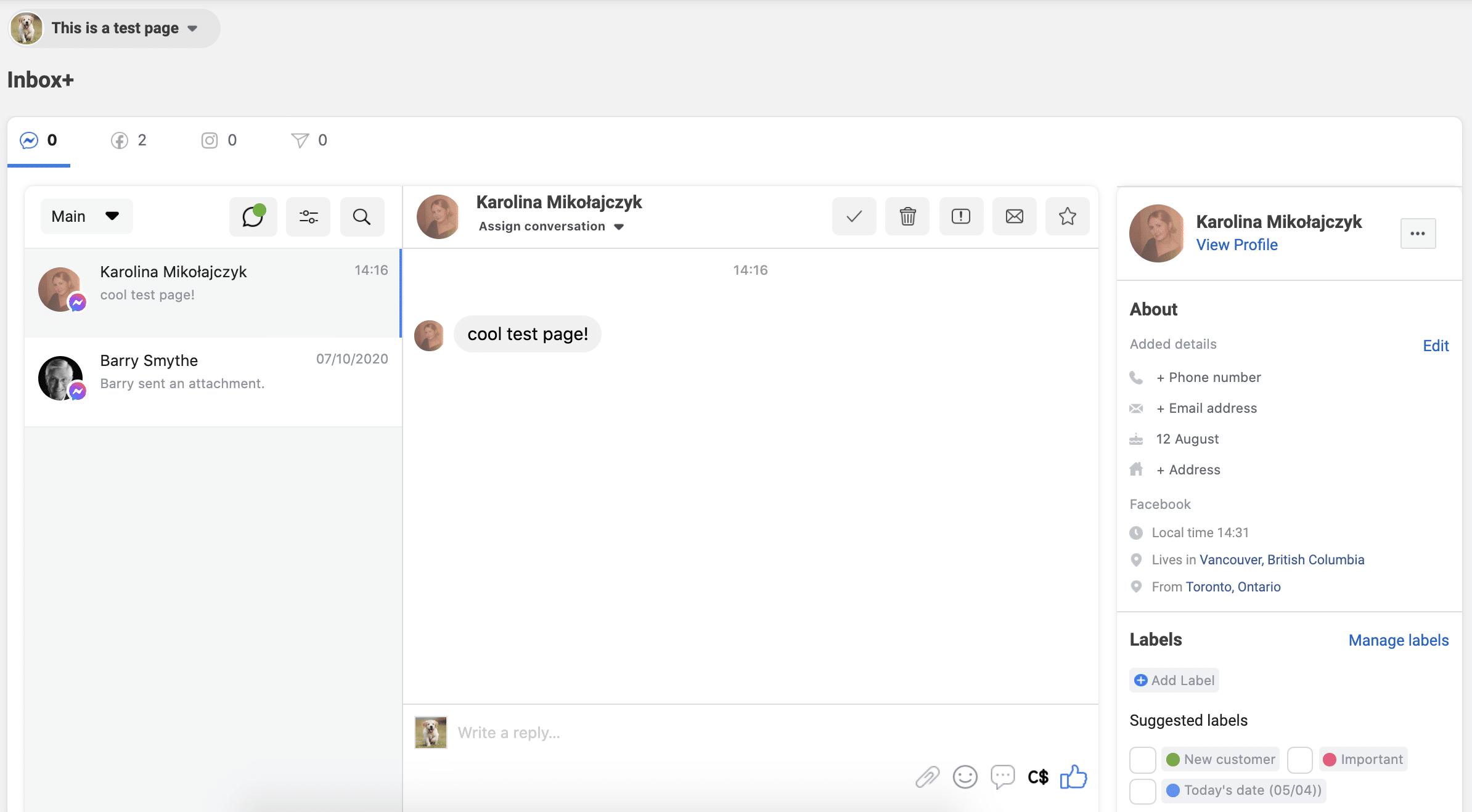 Inbox+ platform