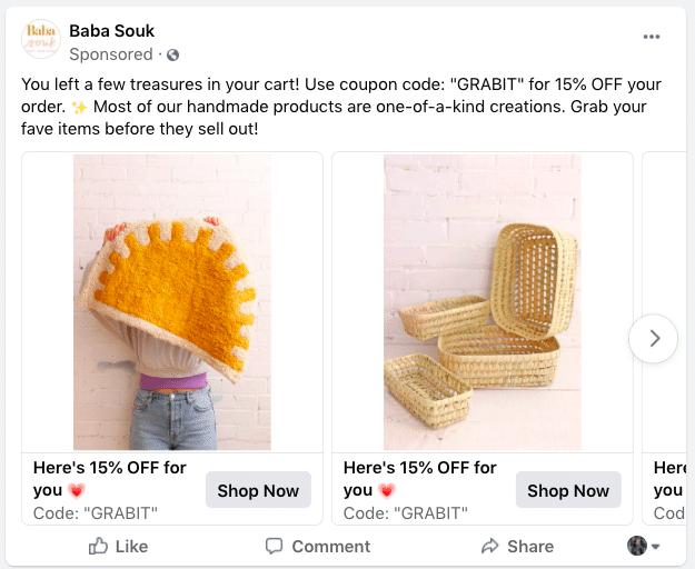 Facebook Baba Souk ad