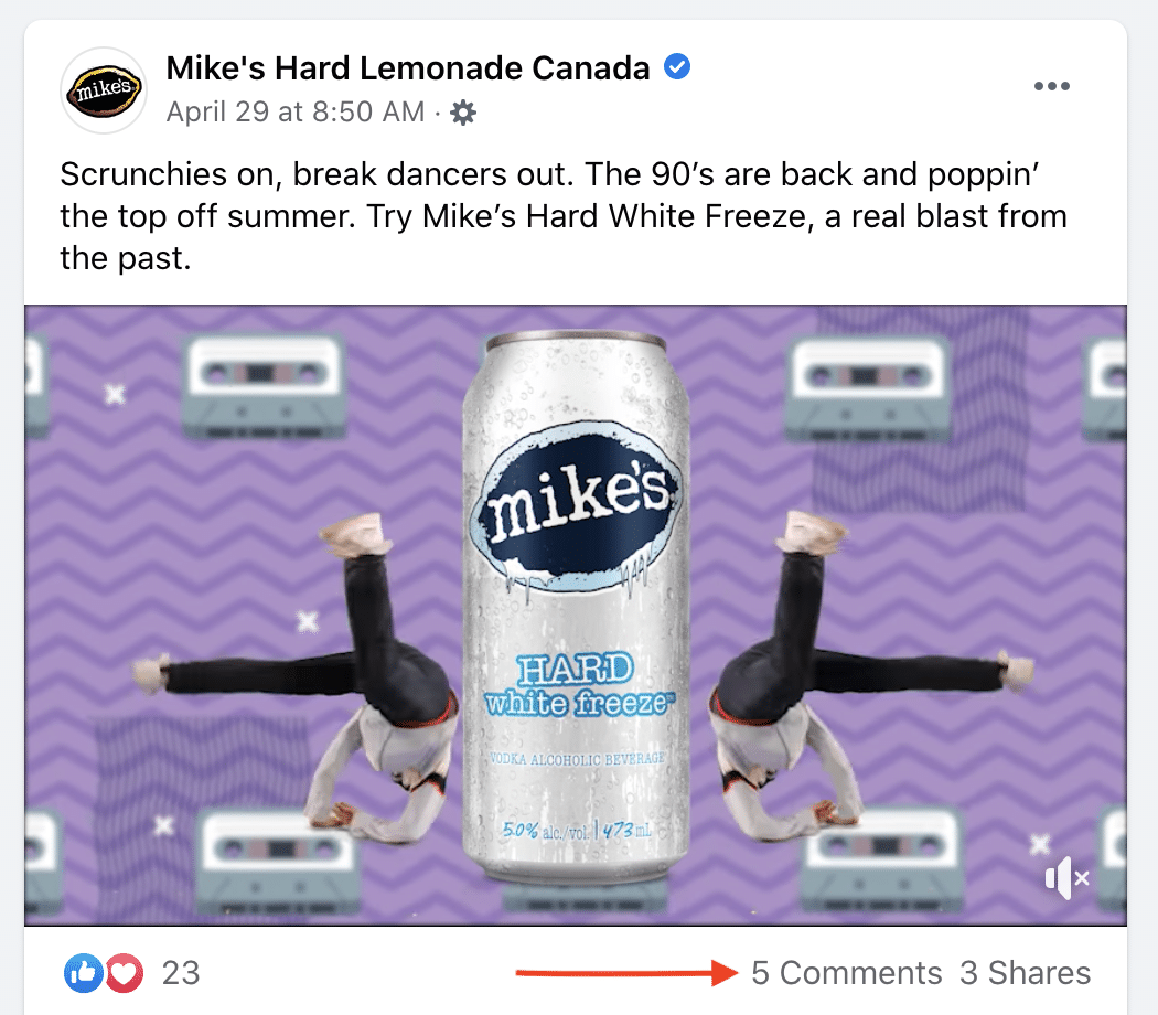 Mike's Hard Lemonade Canada Facebook comments