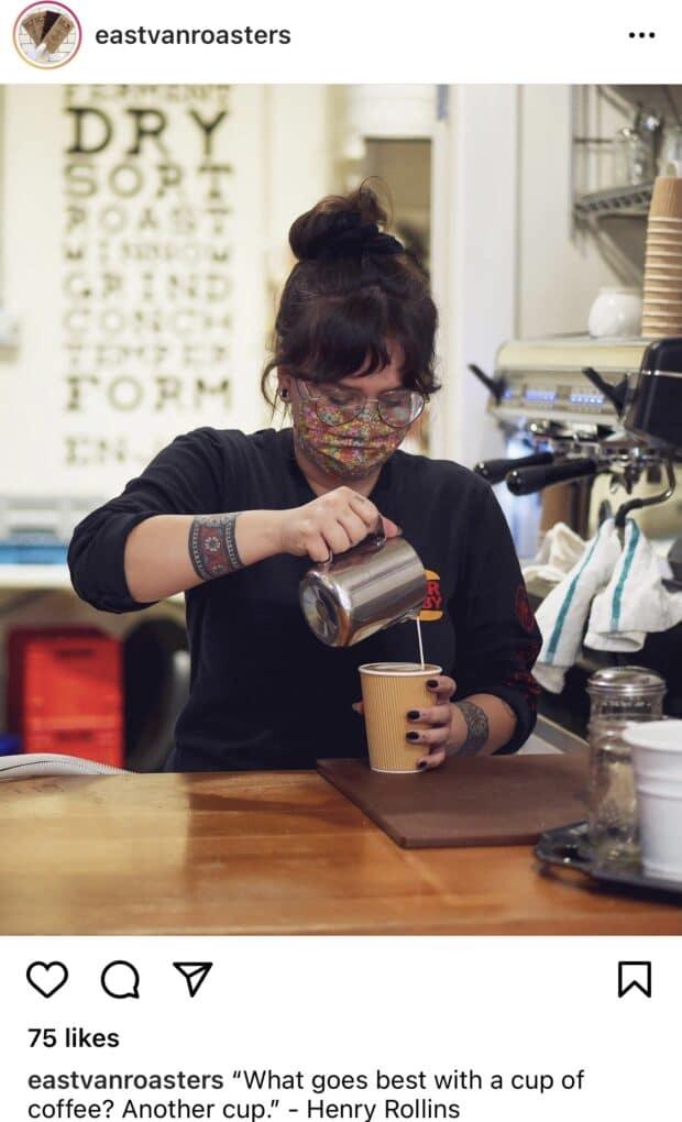 East Van Roasters coffee quote