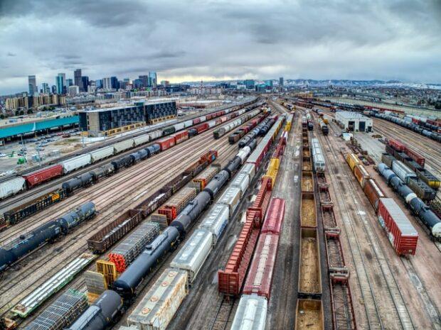 leading lines showcasing rail freight