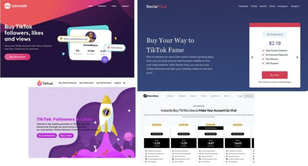 different website pages to buy TikTok followers from