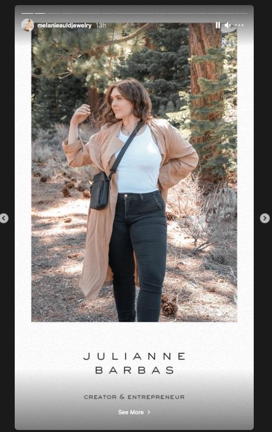 Melanie Auld Jewelry Instagram story template